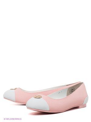Балетки Le Bunny Bleu. Цвет: розовый, белый