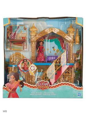 Игровой набор замок маленькие куклы Елена - принцесса Авалора Disney Princess. Цвет: зеленый