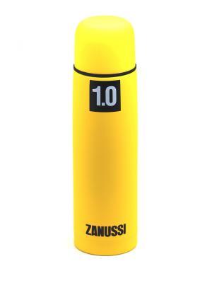 Термос желтый 1,0 л Zanussi. Цвет: желтый