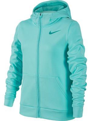 Толстовка G NK THRMA HOODIE FZ Nike. Цвет: голубой, фиолетовый