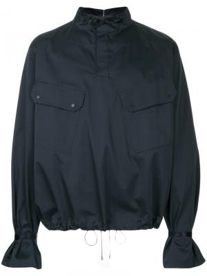 Windbreaker jacket Oamc. Цвет: синий