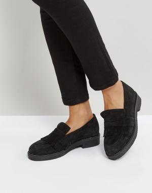 Office Замшевые ботинки на плоской подошве Farrow. Цвет: черный