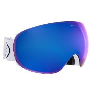 Маска для сноуборда  Eg3.5 Gloss White+Black/Brose/Blue Chrome Electric. Цвет: белый