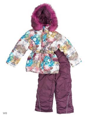 Зимний Комплект для девочки Алмазы Пралеска. Цвет: темно-фиолетовый