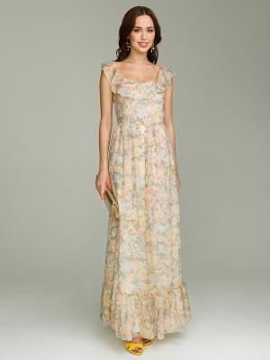 Платье La vida rica. Цвет: персиковый, серый