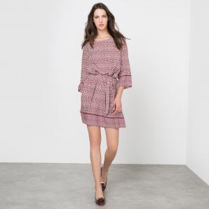 Платье расклешенное с принтом MOLLY BRACKEN. Цвет: бордовый