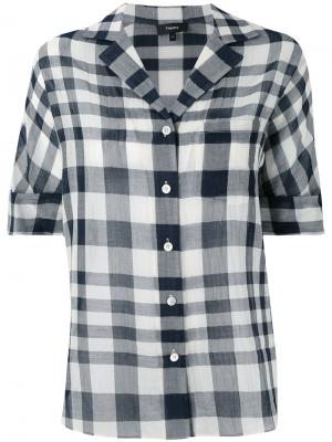 Checked blouse Theory. Цвет: синий