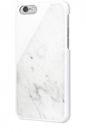 Чехол Clic Marble для iPhone 6/6s Native Union. Цвет: белый