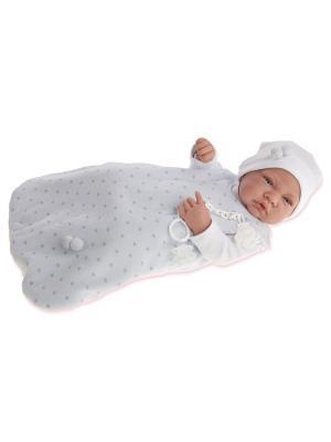 Кукла-младенец Кармело, 42 см. Antonio Juan. Цвет: светло-голубой