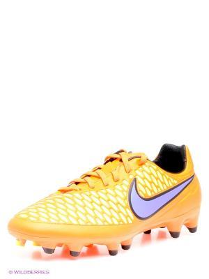 Бутсы MAGISTA ORDEN FG Nike. Цвет: оранжевый, оливковый