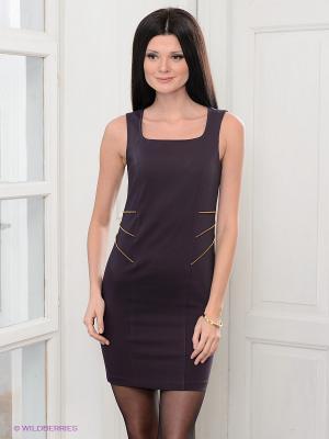 Платье COMPAGNIA ITALIANA. Цвет: темно-фиолетовый