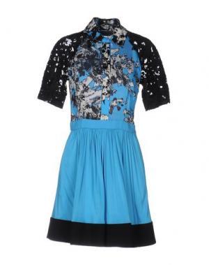 Короткое платье EMANUEL UNGARO. Цвет: лазурный