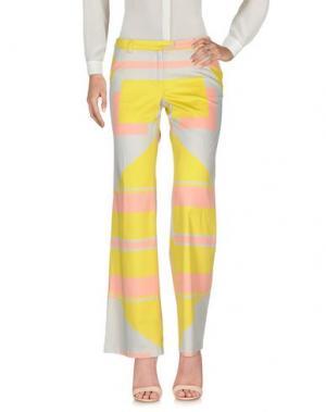 Повседневные брюки LAURA URBINATI. Цвет: желтый