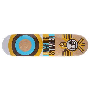 Дека для скейтборда  Su5 Syvanen Raptor Beige 32.25 x 8.125 (20.6 см) Habitat. Цвет: бежевый,желтый,голубой,черный