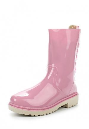 Резиновые полусапоги Mon Ami. Цвет: розовый