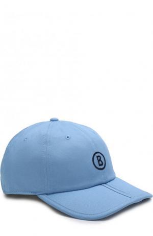 Хлопковая бейсболка с логотипом бренда Bogner. Цвет: голубой