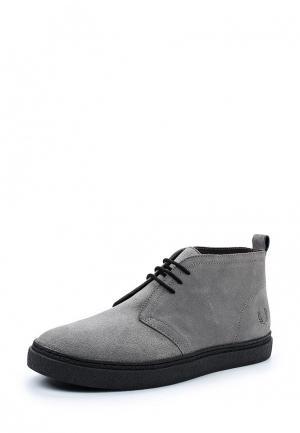 Ботинки Fred Perry. Цвет: серый