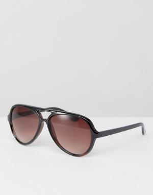 AJ Morgan Коричневые солнцезащитные очки-авиаторы. Цвет: коричневый