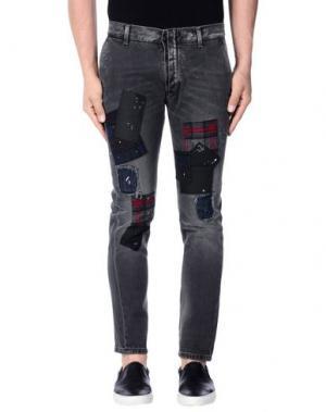 Джинсовые брюки DANIELE ALESSANDRINI. Цвет: свинцово-серый