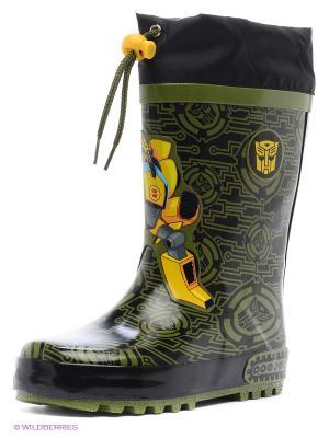 Резиновые сапоги Kakadu. Цвет: серый, желтый