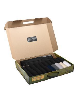 Набор носков Бизнес в кейсе 20 пар микс, с мешком для стирки NosMag. Цвет: черный, темно-синий, антрацитовый, серый, бежевый, белый