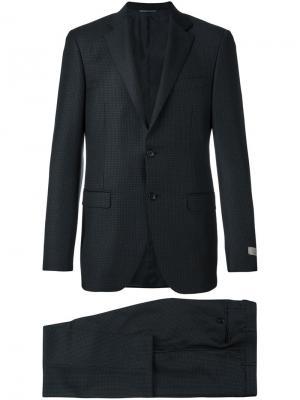 Классический костюм в клетку Canali. Цвет: чёрный