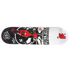 Дека для скейтборда  Original Rocky 31.4 x 8.125 (20.6 см) Footwork. Цвет: белый,красный,черный