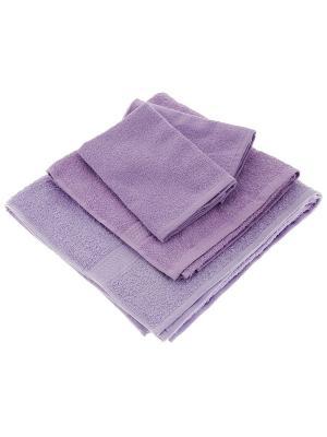 Махровое полотенце сиреневый 70*140-100% хлопок, в коробке УзТ-ПМ-114-08-05к Aisha. Цвет: сиреневый