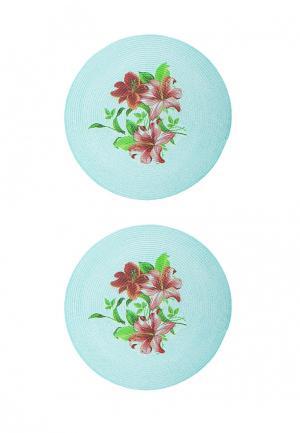 Комплект салфеток 2 шт. La Pastel. Цвет: голубой
