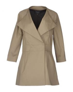 Легкое пальто GIULIANO FUJIWARA. Цвет: голубиный серый