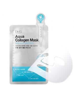 Увлажняющая тканевая маска с коллагеном Aqua Collagen Mask, 25мл, (10 шт в упаковке) Dr.G. Цвет: белый