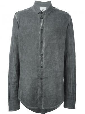 Рубашка с удлиненным подолом Lost & Found Rooms. Цвет: серый