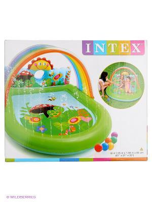 Надувной игровой центр-бассейн Intex. Цвет: голубой
