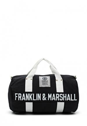 Сумка спортивная Franklin & Marshall. Цвет: черный
