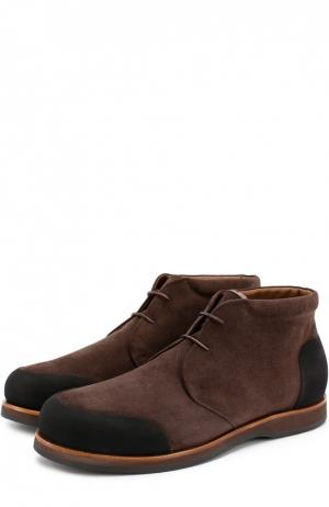 Замшевые ботинки с внутренней меховой отделкой Zonkey Boot. Цвет: коричневый