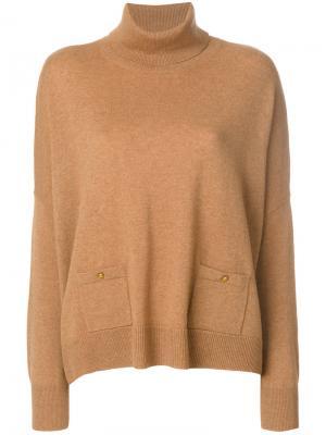 Джемпер с пуговицами на карманах Vanessa Bruno. Цвет: коричневый