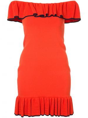 Платье-мини Capri Rebecca Vallance. Цвет: жёлтый и оранжевый