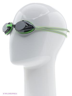 Очки для плавания Speedo. Цвет: зеленый, серый