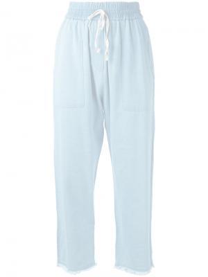 Джинсовые брюки с эластичным поясом Masscob. Цвет: синий