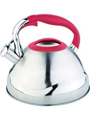 Чайник со свистком 3л. RAINSTAHL. Цвет: красный