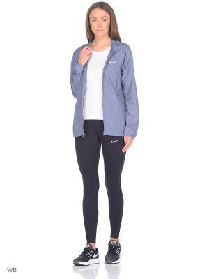 Куртка W NK ESSNTL JKT HD Nike. Цвет: синий