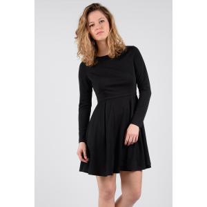 Платье короткое расклешенное с длинными рукавами MOLLY BRACKEN. Цвет: черный
