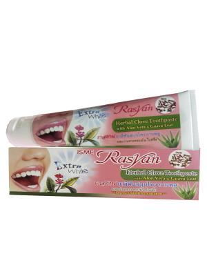 Травяная зубная паста с гвоздикой , алое вера и листьями гуавы 100г. Rasyan. Цвет: красный, белый, розовый
