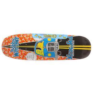 Дека для скейтборда лонгборда  Worrest Lost Highway Multi 32.07 x 9.5 (24.1 см) Krooked. Цвет: мультиколор
