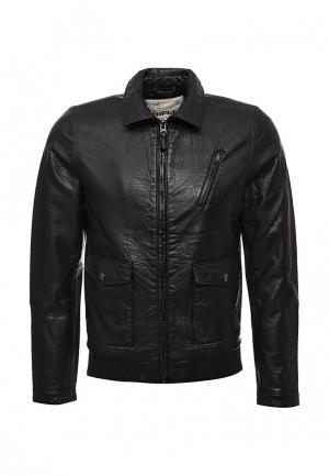 Куртка кожаная Rifle. Цвет: черный