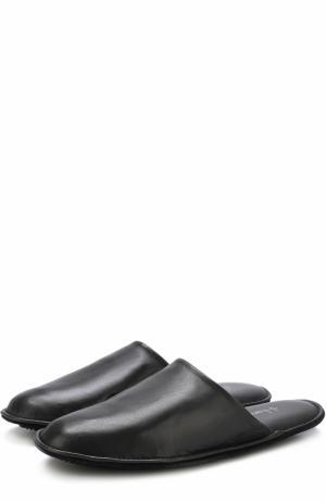 Домашние кожаные туфли Homers At Home. Цвет: серый