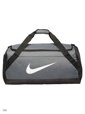 Сумка NK BRSLA L DUFF Nike. Цвет: серый, черный