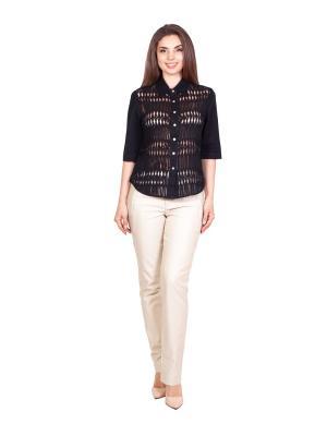Блузка LAFEI-NIER. Цвет: черный