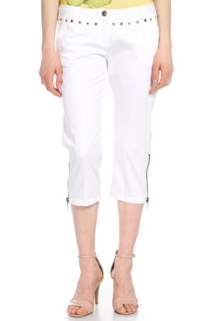Капри с молниями Versace. Цвет: белый