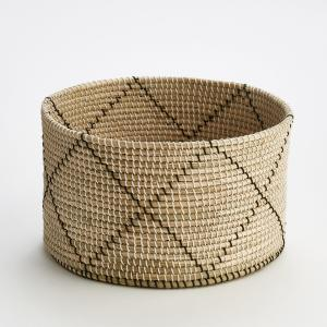 Корзина плетеная круглая Guillermo AM.PM.. Цвет: черный/ экрю